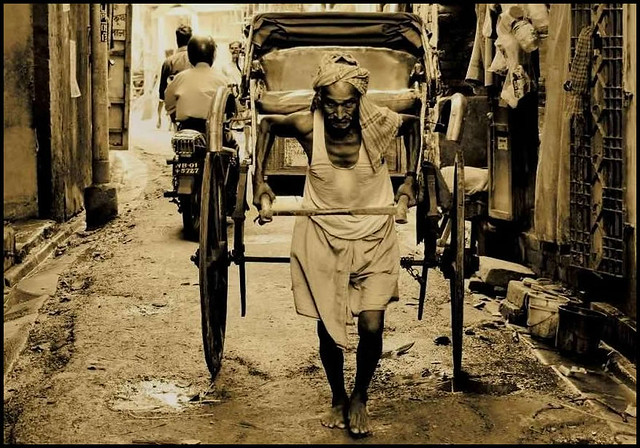 what is a rickshaw puller