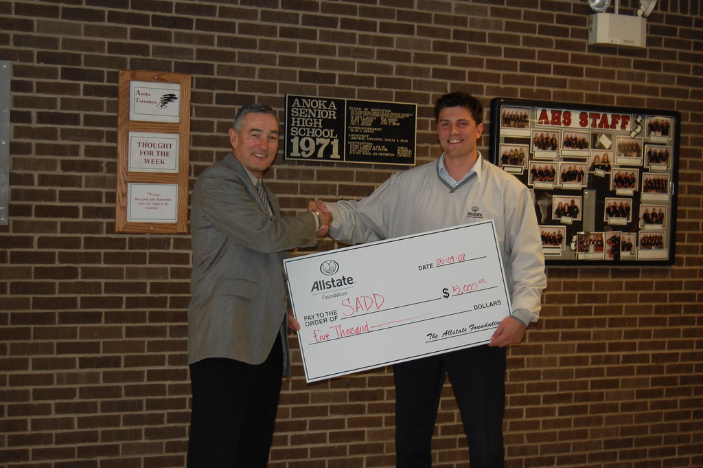 Allstate Agent Sign In >> Anoka High School Principle Terry Abram and Allstate Agent ...