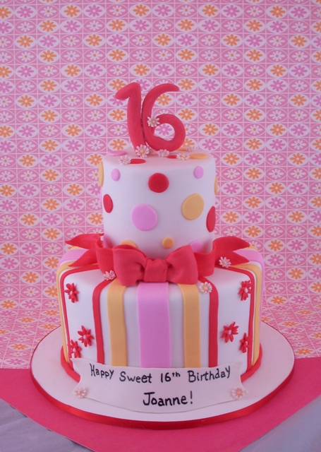 Sweet Sixteen Birthday Cake The Client Is A Just Turning