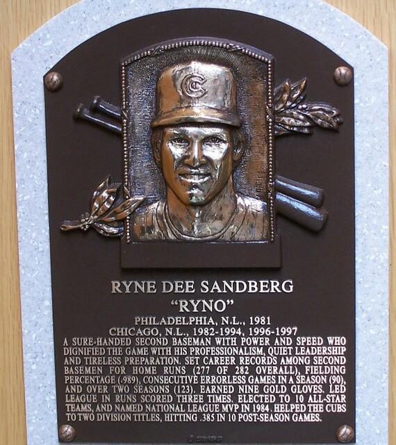 Ryne Sandberg S Plaque Hall Of Fame At The Time This
