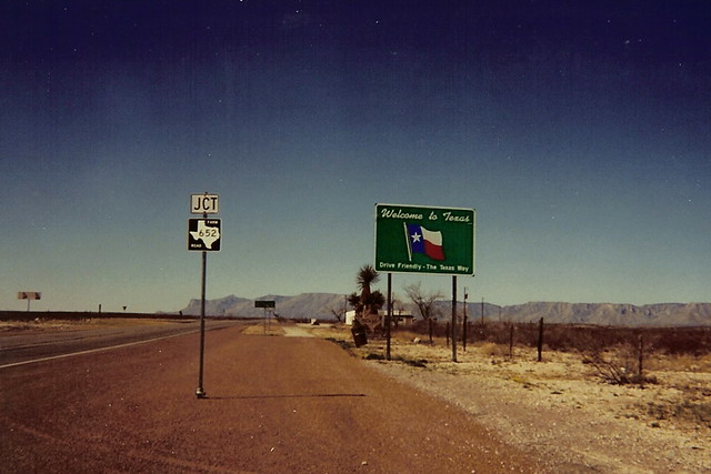 Welcome To Texas Near Guadalupe Mountains National Park