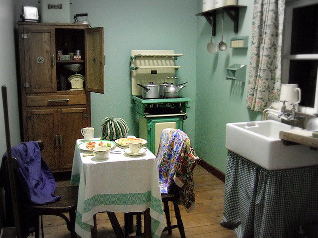 Kitchen Dining 1940 S War Time Birmingham Museum