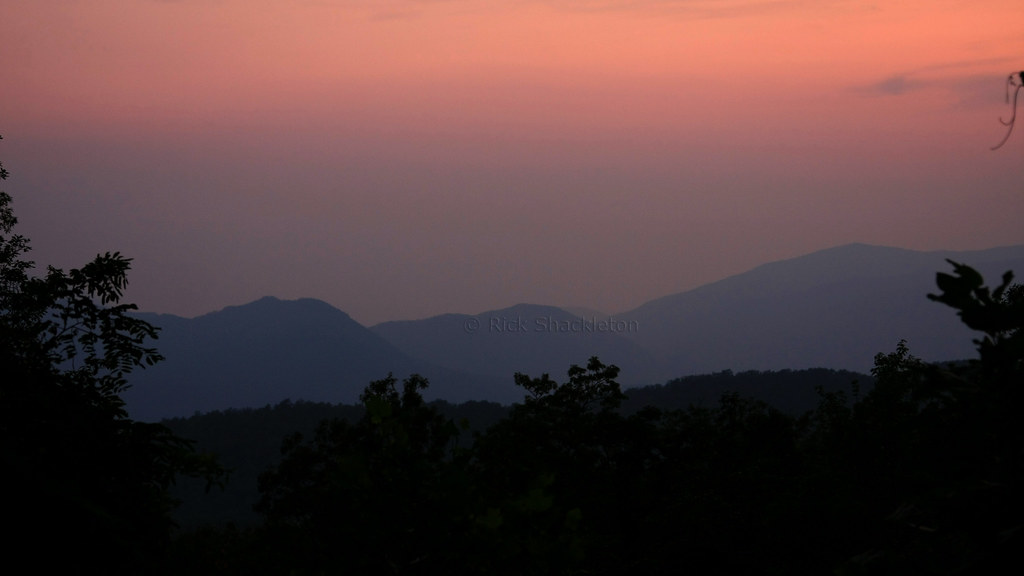 great smoky mountains sunset 2 after sunset from the