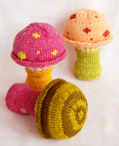Toadstool Baby Rattle | by the purl bee