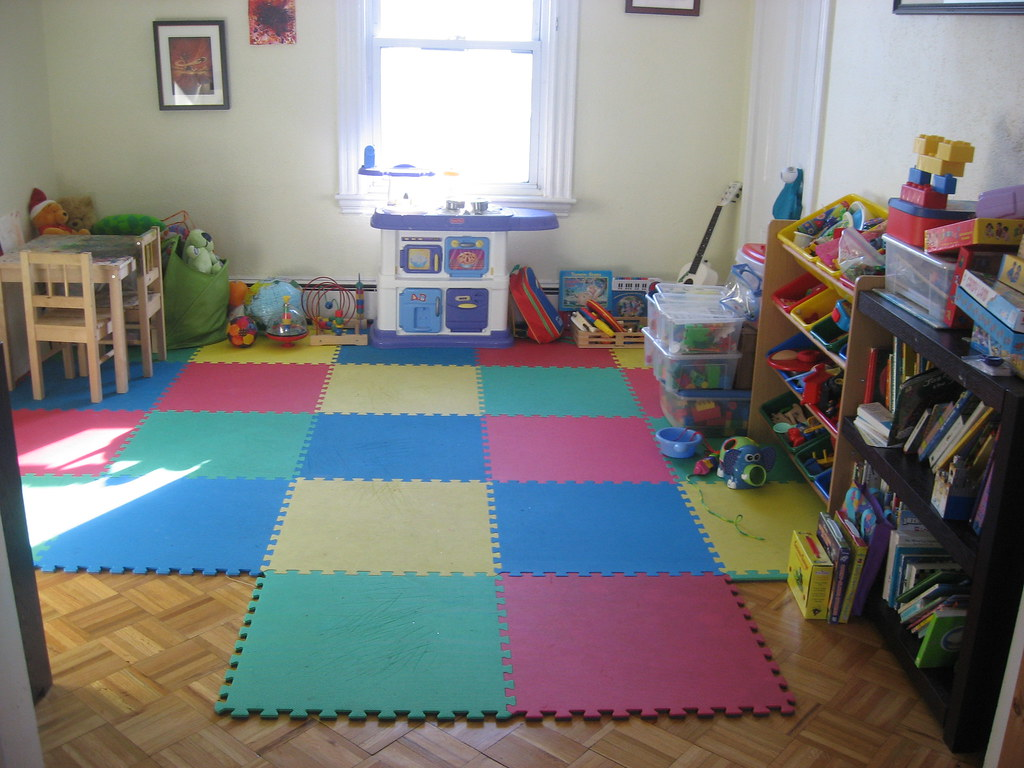 Playroom almost pristine andrew watson flickr Toddler girl bedroom ideas on a budget