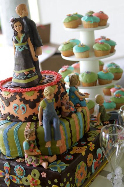 Bohemian Bollywood Hippie Wedding Cake