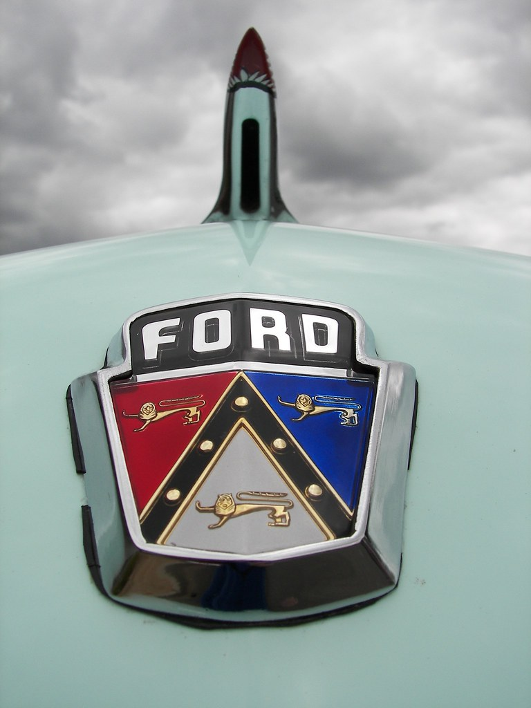 ford crest under clouds