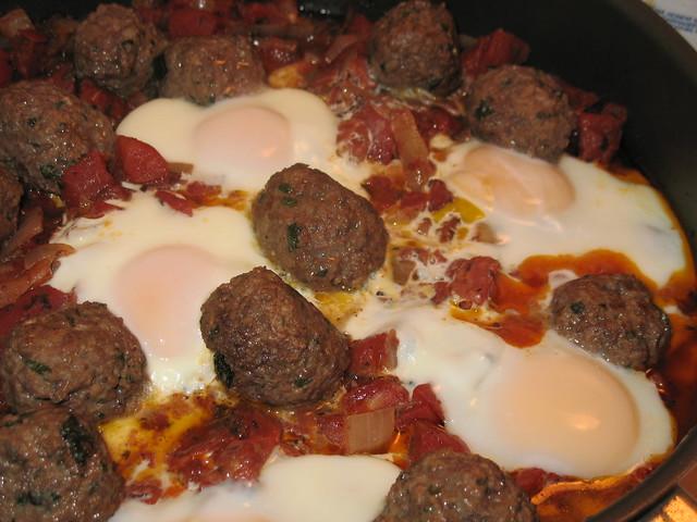 Meatball, Tomato and Egg Tagine (Kefta Mkaouara)