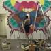 Maya Hayuk's wall mural at The Arm