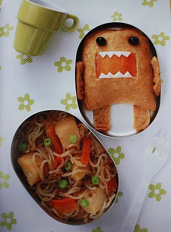 Silly Domo-kun inarizushi bento lunch | by Biggie*