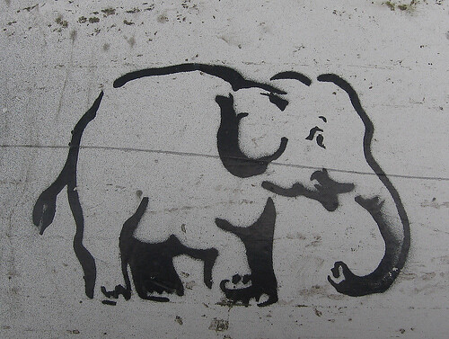 elephant stencil | Jea...
