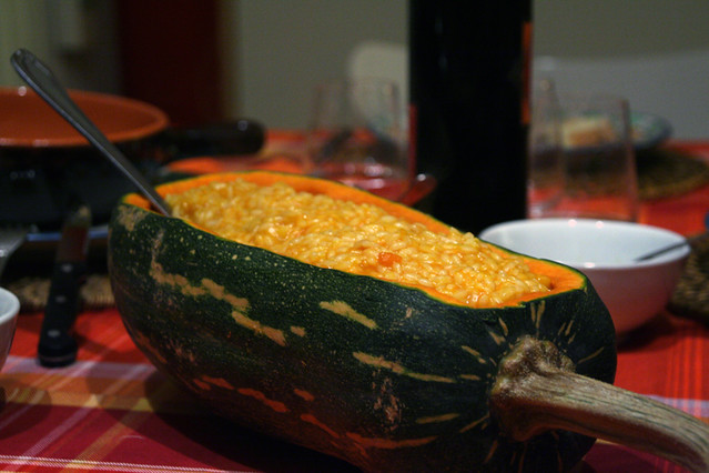 Risotto alla zucca risotto alla zucca porri e for Cucinare in 3d