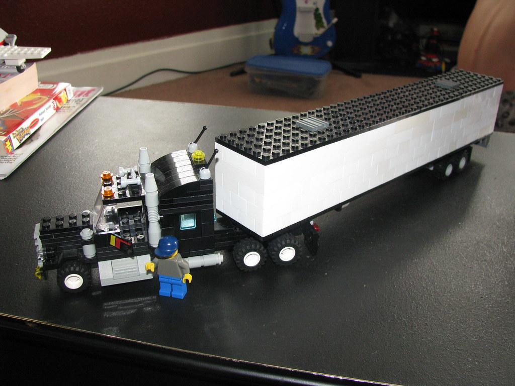 Lego Tractor Trailer : Lego tractor trailer truck madness flickr