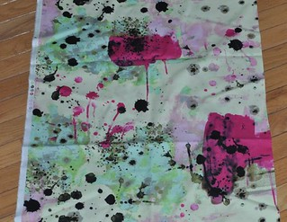 paint splatter Jay McCarroll fabric | by vickivictoria