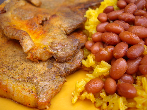 Chuletas with Rice and Beans | by swampkitty