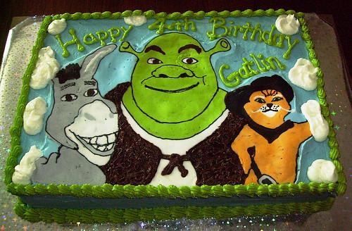 Shrek Happy Birthday Cake