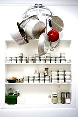 pot rack and spices | by smitten kitchen