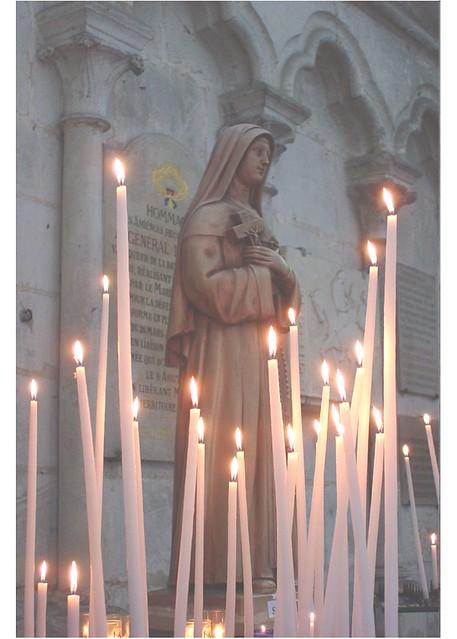 angel by candle light image taken inside the cathedral. Black Bedroom Furniture Sets. Home Design Ideas