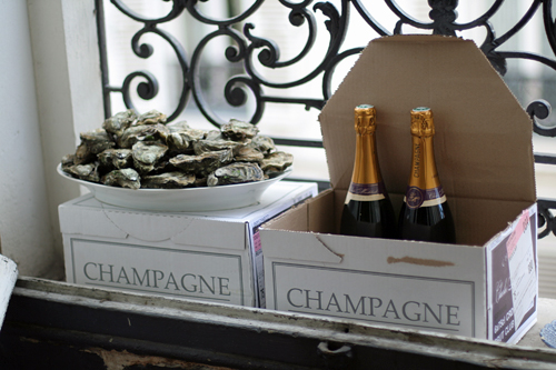 champagne chilling | by David Lebovitz