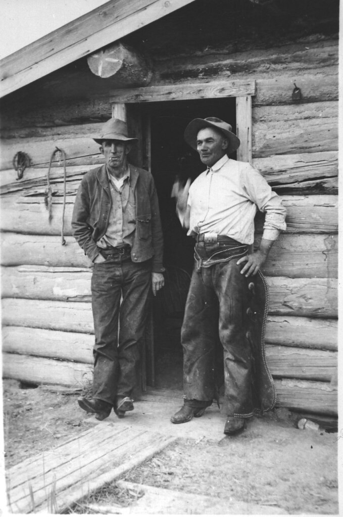 Cowboys Bill Marshal And Guz Conforth On The Upper Ruby 1