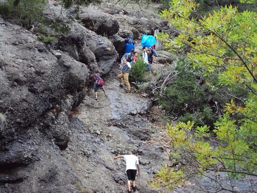 Climbing The Ridge By Three Falls At Camp Classen Flickr