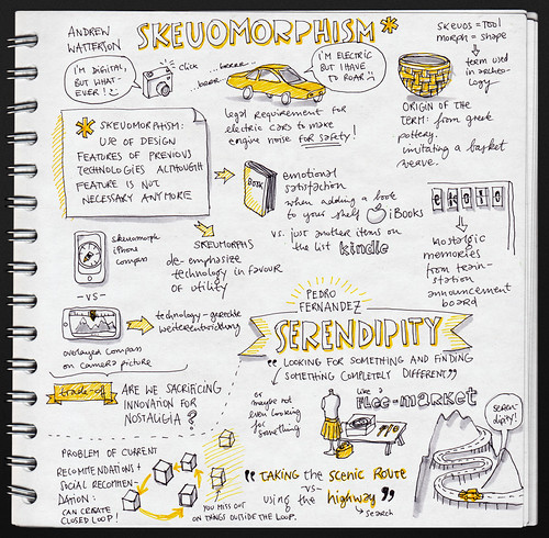 Andrew Watterson: Skeuomorphs and Pedro Fernandez: Serendipity at UXLX | by evalottchen
