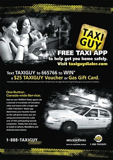 Taxi-Guy-Text-to-Win_19x27 | by Molson Coors Canada