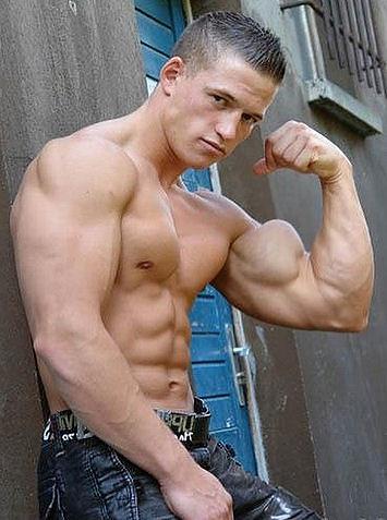 huge biceps 2 | young man showing off his huge bicep ...