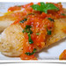 Pan-fried tilapia with tomato sauce