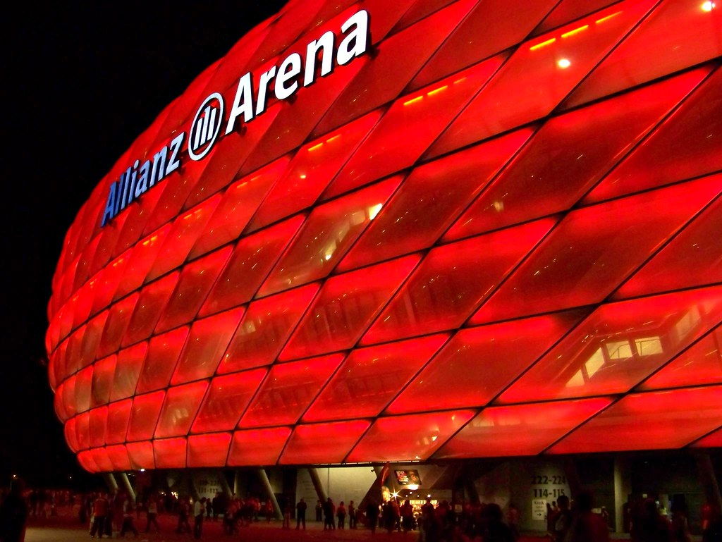 Munichs Red Light District   Allianz Arena München bei