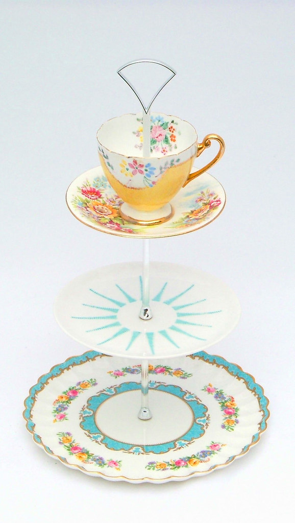Tier Cake Stand White Bowl