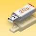 Illustrasi 3D USB - Melayang di Udara