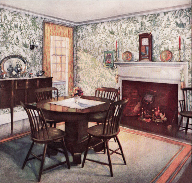 1926 traditional dining room the wallpaper manufacturers for E house manufacturers usa