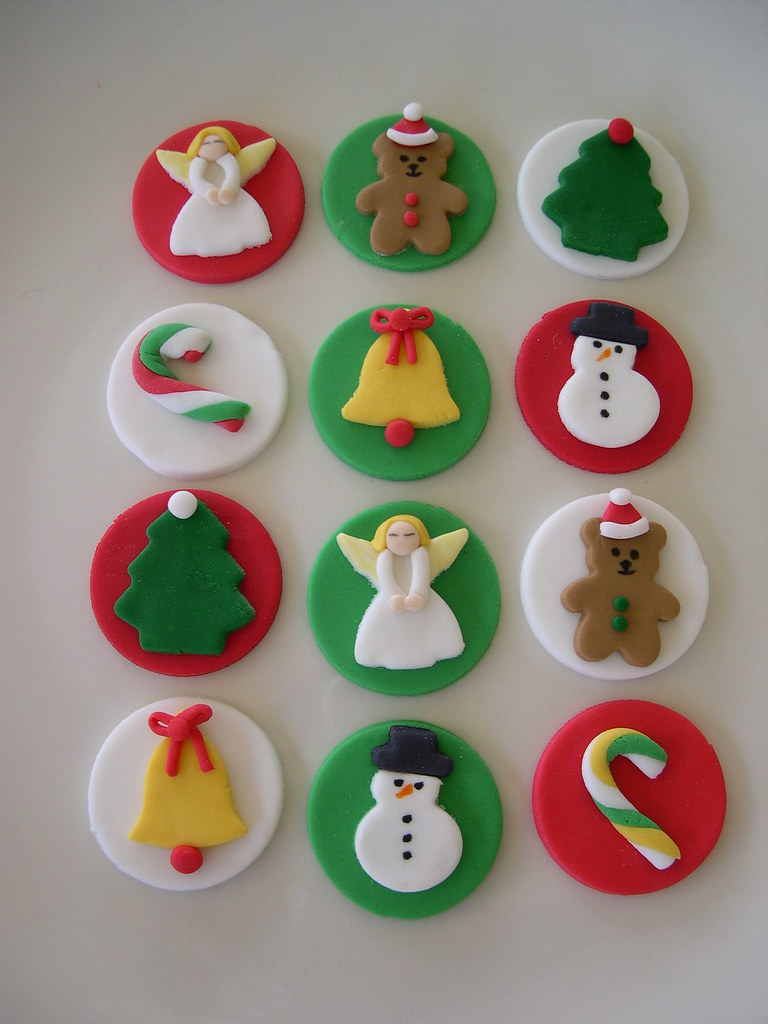 Cake Toppers For Christmas : christmas cupcake toppers All toppers designed and hand ...