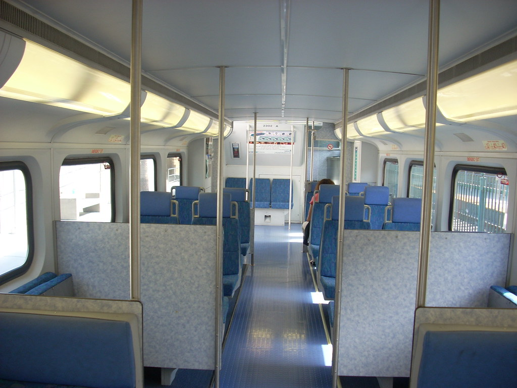 interior of coaster the coaster commuter rail line uses th flickr. Black Bedroom Furniture Sets. Home Design Ideas