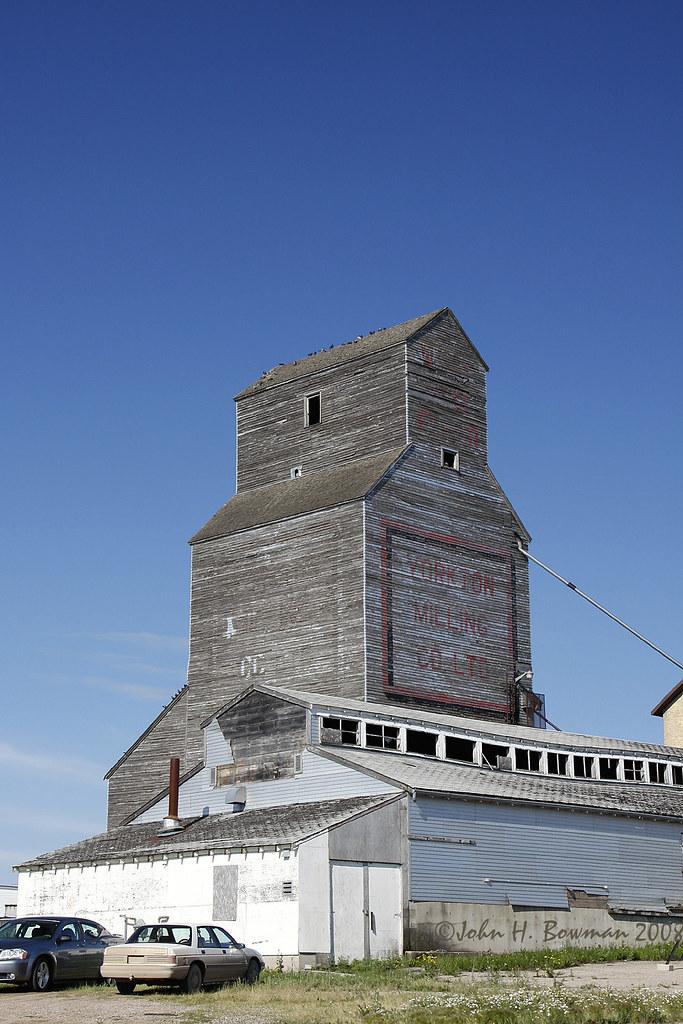 Old Style Elevator Saskatchewan This Old Grain