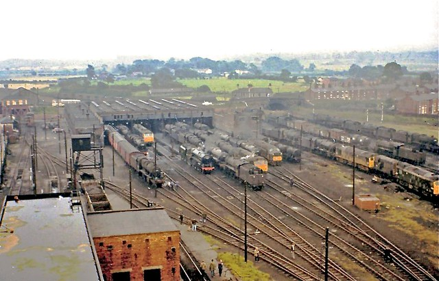Lostock Hall Engine Shed Aerial View 27 07 68 Pres