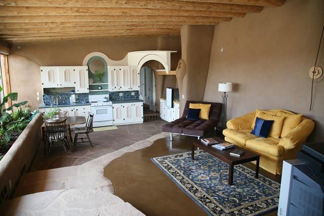 Corner Cottage Living Room Kitchen