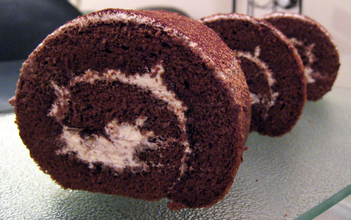 "Heavenly Chocolate Cake Roll | Size: 8"" Price: $12 Topping ..."