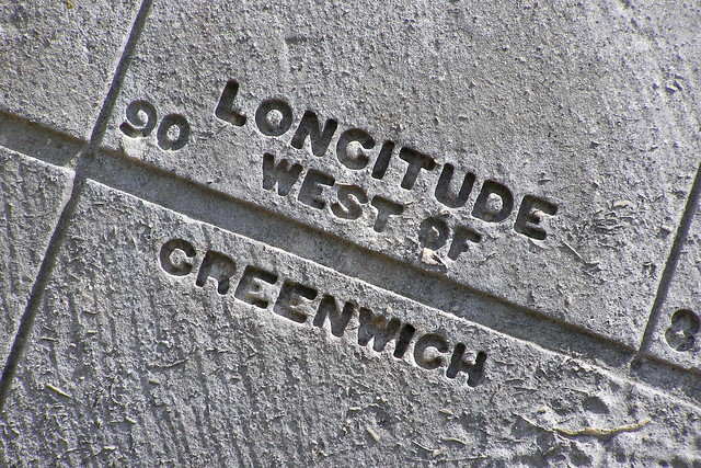 Longitude west of Greenwich