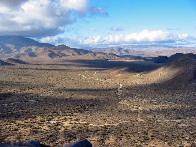 Blair Valley From Ghost Mountain Dec 2002 Anza Borrego