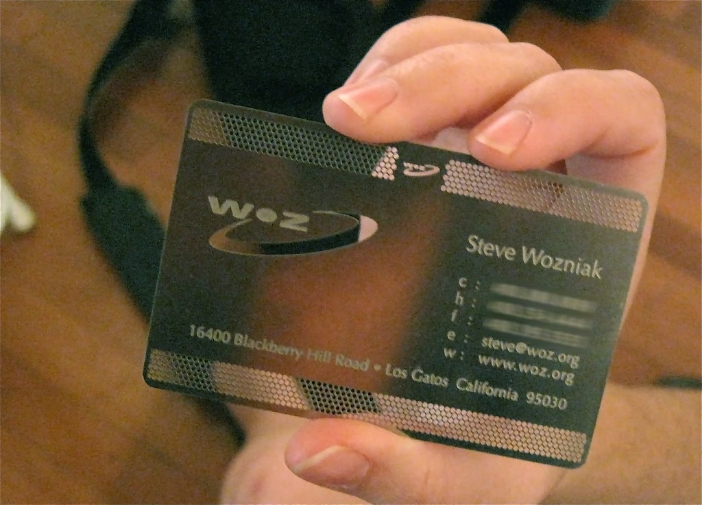 Woz Card | Someone we met managed to get a business card fro… | Flickr