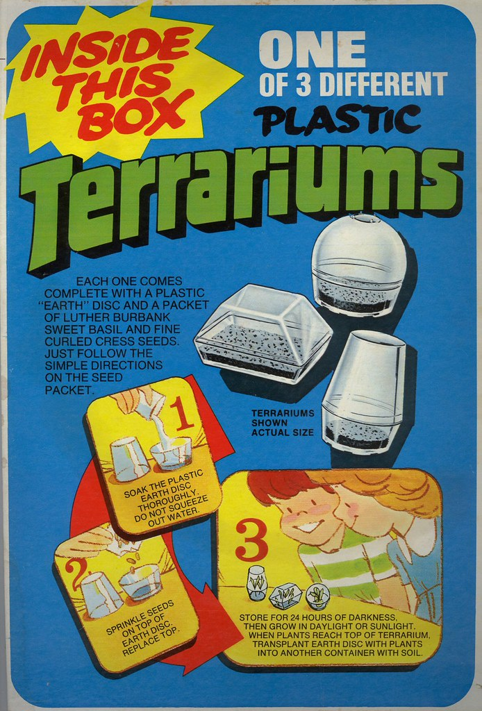 Post Cereal Terrariums 1975 Many Kids From The 70s