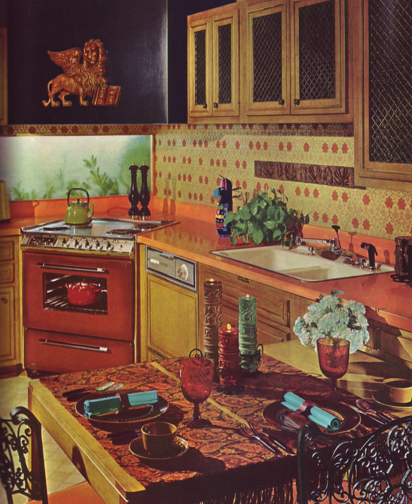 The lion eats tonight even in a kitchen that has no room for Retro kitchen ideas 1970