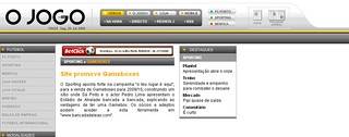 2009.07.24 - O Jogo Online - Site promove Gameboxes | by dJomba