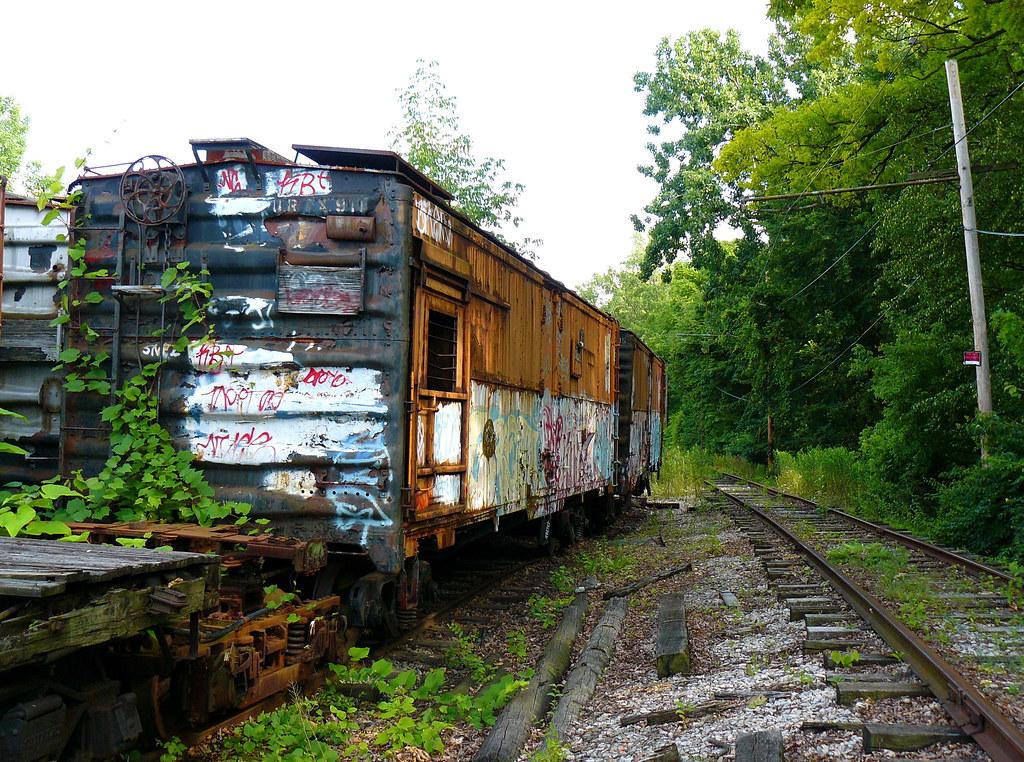 Old Railroad Cars Old Abandoned Railroad Cars Near The