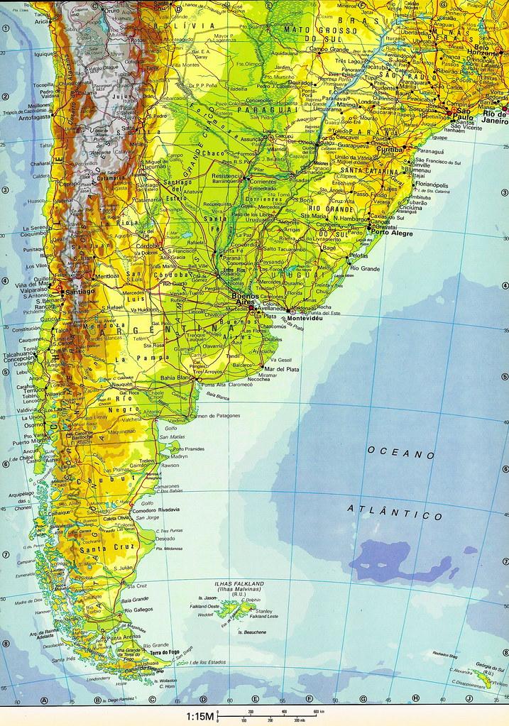 mapa de am u00e9rica del sur  sudam u00e9rica