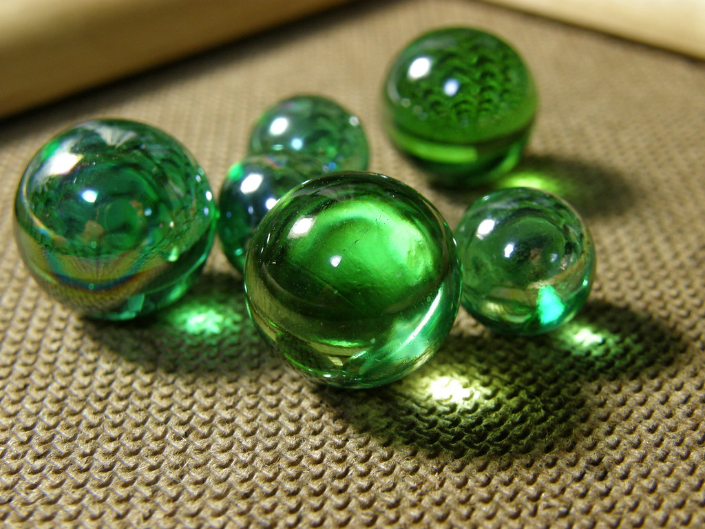 Green Marble Toy : Green marbles kohei flickr