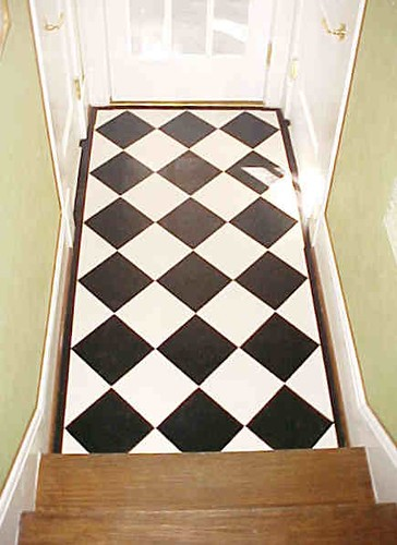 Painted Wood Floor Hallway Checkerboard The Home Is On