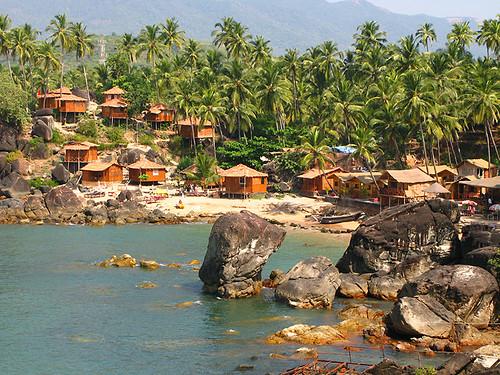 Huts And Rocks Palolem Goa India Flickr Photo Sharing